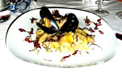 lasagne cozze e radicchio ristorante casanova