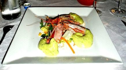 ristorante caranova gamberoni al vapore con maionese al basilico